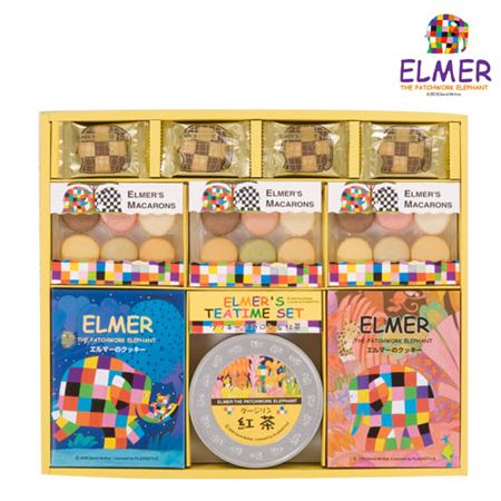 【ギフトに】エルマー クッキー&マカロン&紅茶詰合せB【内祝い・出産内祝いにも】