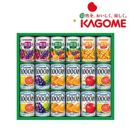 【ギフトに】カゴメ フルーツ+野菜飲料ギフト(18本)【内祝い・出産内祝いにも】