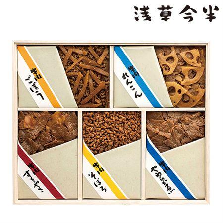 浅草今半 牛肉佃煮詰合せ 木箱入(5種)