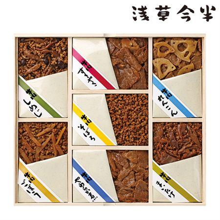 浅草今半 牛肉佃煮詰合せ 木箱入(7種)