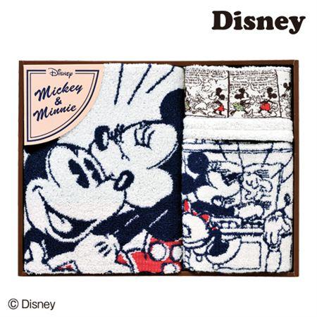 【ギフトに】ディズニー コミックミッキー&ミニータオルセットF【内祝い・出産内祝いにも】