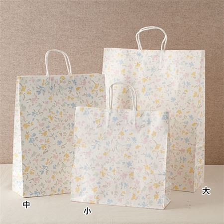 【新価格】手さげ紙袋フラワー
